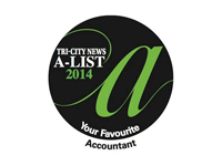 2014 A-List Favourite Accountant, Tri-City News