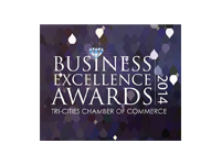 2014 Small Business of the Year Finalist, Tri-Cities Chamber of Commerce Business Excellence Awards