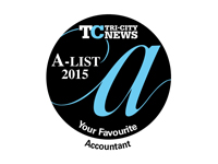 2015 A-List Favourite Accountant, Tri-City News
