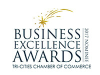 2017 Nominee for Small Business of the Year for the Tri-Cities Chamber of Commerce Business Excellence Awards